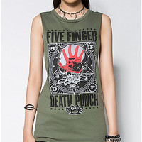 Five Finger Death Punch Junior Fitted Muscle Tank - Spencer's