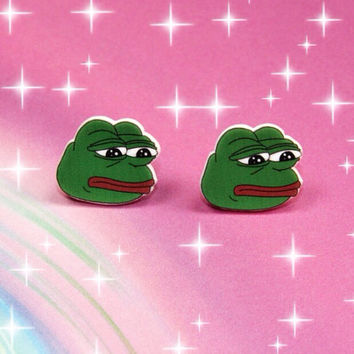 Pepe The Frog Earrings, Pepe The Frog