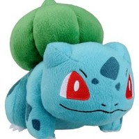 "Takaratomy New Pokemon N-08 X and Y Bulbasaur/Fushigidane 5.5"" Plush Doll"