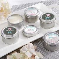 "Kate'S ""Gender Reveal"" Personalized Travel Candle (Set Of 12)"