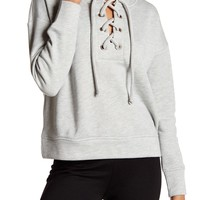 Harlowe & Graham | Cozy Lace Front Sweater | Nordstrom Rack