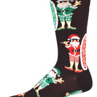 Mahalo You Nerds Santa Christmas Socks