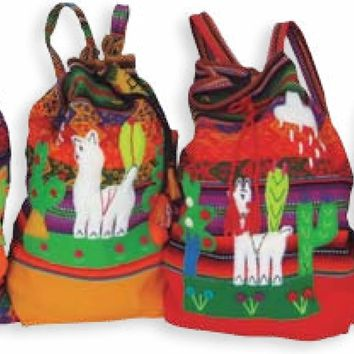 Kids Inca Alpaca Backpack
