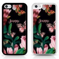 PERSONALISED Butterfly Flower Designer TPU RUBBER cover case for iPhone Samsung | eBay