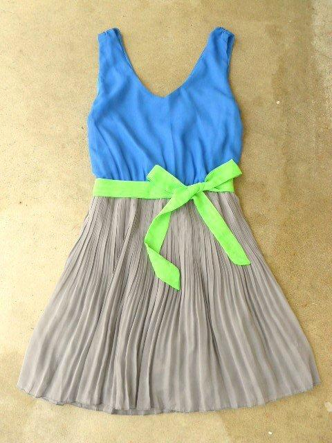 Clearwater Colorblock Dress in Royal [2604] - $42.00 : Vintage Inspired Clothing & Affordable Summer Dresses, deloom | Modern. Vintage. Crafted.