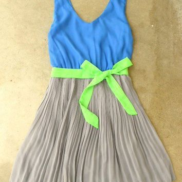 Clearwater Colorblock Dress in Royal [2604] - $42.00 : Vintage Inspired Clothing & Affordable Summer Dresses, deloom   Modern. Vintage. Crafted.
