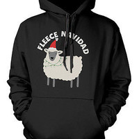 Funny Christmas Graphic Hoodies - Fleece Navidad Unisex Black Hoodie