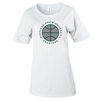 NCAA Michigan State Basketball MM19MCS1 Women's Stretchy Boyfriend Tee