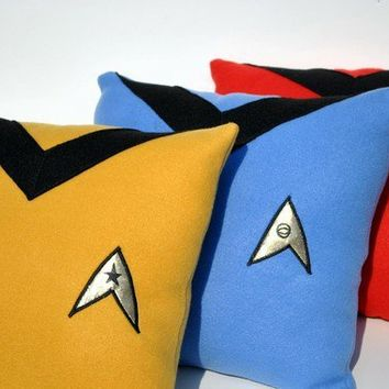 Complete Star Trek Pillow Set - YellowBugBoutique on Etsy