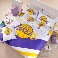 Los Angeles Lakers Basketball Bedding Set | EBeddingSets