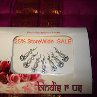 Original Silver Fancy Bindi & Crystal Handmade Bindis.