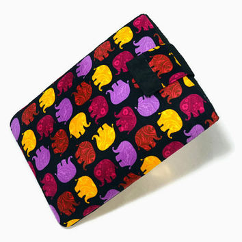 Elephants, Tablet Case, iPad Case, iPad Mini, Kindle Fire Sleeve, 7, 8, 9, 10 inch Tablet Cover, FOAM Padding, Gift, Black, Purple, Gift