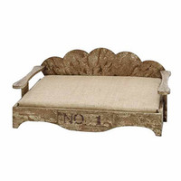 LCPRU69284 Antique wood Baby Bed - LAST CALL