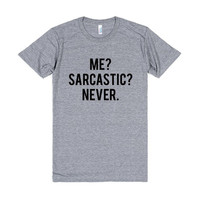 American Apparel Me Sacracstic Never Tri Blend, American Apparel, Soft Tee, Unisex Graphic Tee