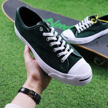 CREYNW6 Sale Polar Skate Co. x CONVERSE Jack Purcell Pro XO Dark Green Suede Skateboard Shoes Sneaker