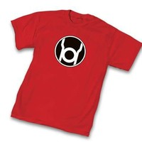 Green Lantern Red Lantern Corps Symbol Red Adult T-Shirt - Shirts Sheldon Has Worn - | TV Store Online