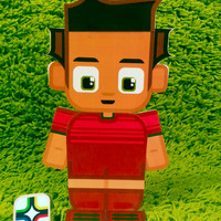 Portugal football soccer craft activity. Printable paper toy. Instant download. Make you own cards, banners and football soccer bunting!