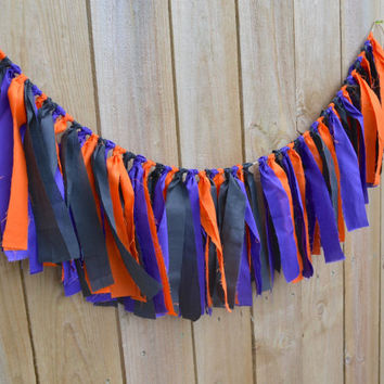 halloween banner - fall decor - halloween party decor - spooky banner - purple banner - orange banner - halloween decor - halloween party