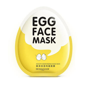 1pcs BIOAQUA Egg Facial Masks Tender Moisturizing Face Mask Oil Control Brighten Wrapped Face Mask Tender Skin Care moisturizing