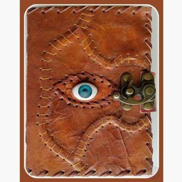 The Sacred Eye Leather Latched  Journal