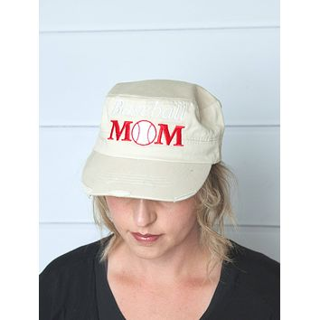 baseball mom hat - mama style hat - baseball cap , gift for mom