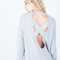 Criss Cross Sweater Top