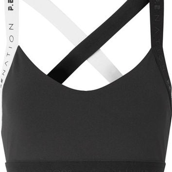 P.E NATION - Overshot two-tone stretch sports bra