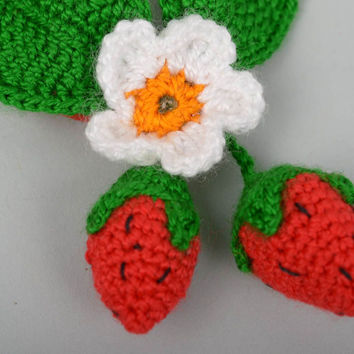 Unusual handmade crochet scrunchie hair tie flowers in hair accessories for girl