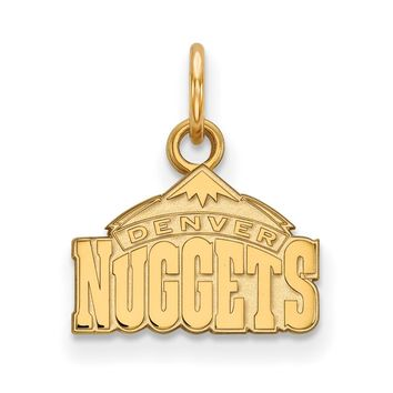 NBA Denver Nuggets Xsmall Logo Pendant in 10k Yellow Gold