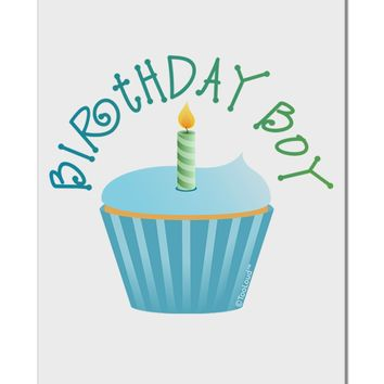 "Birthday Boy - Candle Cupcake Aluminum 8 x 12"" Sign by TooLoud"