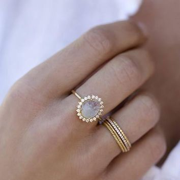 Antiquity Moonstone Ring