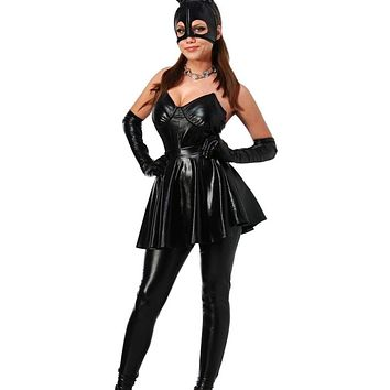 MOONIGHT Bunny Costume Rabbit Lady Role Playing Sexy Suit DS Dance Costume Stage Uniform Women Dress+Pants+Gloves+Mask+Head Band Macchar Cosplay Catalogue