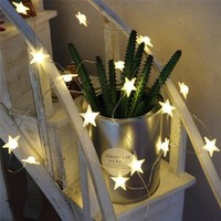 VONEL7C DELICORE 20 Leds Star Shaped LED Fairy String Lights Baby Home Decor Lighting For Holiday Party Decoration S146