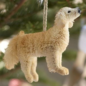 Bottlebrush Dog Ornament | Pottery Barn