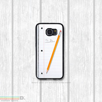 Note Pad Case, Custom Phone Case for Galaxy S4, S5, S6