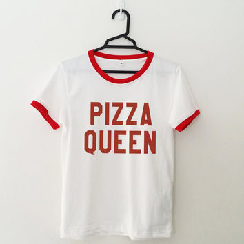 Pizza shirt tshirt oufit for teens girl womens summer fall spring winter outfits ideas hipster dates school teen tumblr fashion graphic tee