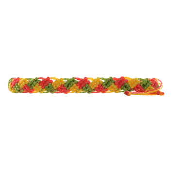 Braided Tri-Color Rasta Bracelet