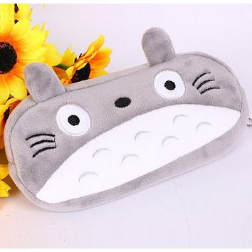 15pcs/lot Cartoon Totoro Style Plush Zipper Pencil Bags Cosmetic Bag Pouch Writing Supplies Office & School Supplies