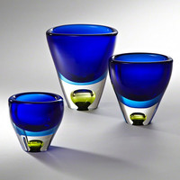 Global Views Perlette Vase-Cobalt-Med - Global Views 6-60279
