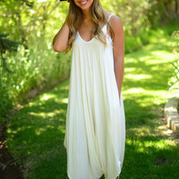 Free To Be Jumpsuit- Ivory