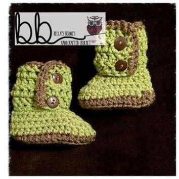 ICIK8X2 Baby Ugg Style Boots Crochet - Newborn to 12 month - made to order