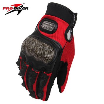 PRO-BIKER Men Motorcycle Enduro Racing Gloves Full Finger Gloves ATV Dirt Bike Gloves Motorbike Motocross Off-Road Gloves Luvas