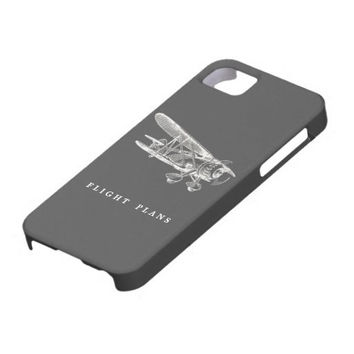 iPhone 5 Cases - Vintage Airplane, Personalized Cell Phone Cover, Hard Shell iPhone 4 / 4S, Galaxy S3 / S4, iPod Touch, iPhone 5S