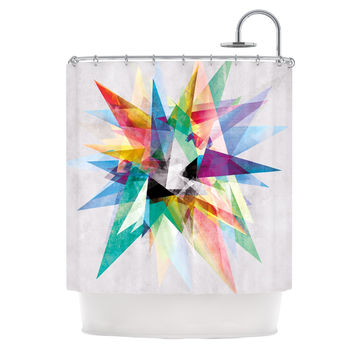 "Mareike Boehmer ""Colorful"" Rainbow Abstract Shower Curtain"