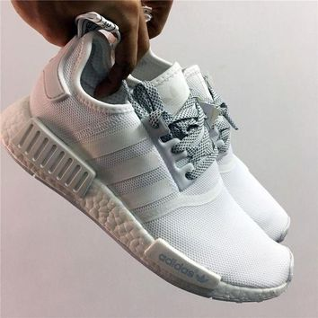 DCCKIJG Adidas NMD R1 3M Reflective White Shoes Sneaker