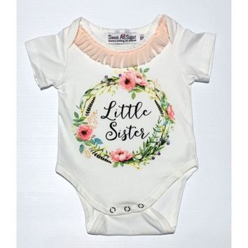 Sweet as Sugar Couture Lil Sister Peach Onesuit