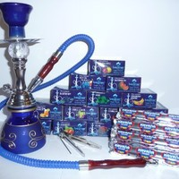 """Premium 12"""" Hookah, 3 Boxes of Beamer Hookah Molasses Flavors, 30 Charcoals, Beamer Card and Accessories!"""