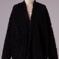 Black Fuzzy Jacket (Small/Indie Brands)