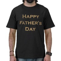 Gold Happy Father's Day Text Design Tshirts from