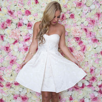 Broadway Strapless Dress In Ivory
